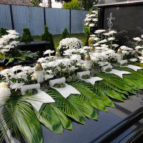 Smútočné kytice, pohrebné vence